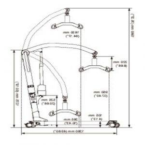 Molift Mover 180 Hoist dimensions