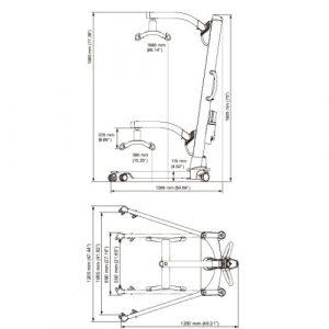 Molift Partner 255 mobile hoist - dimensions