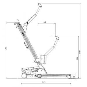 Molift Quick Raiser 2 plus dimensions