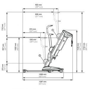 Molift Quick Raiser 205 dimensions