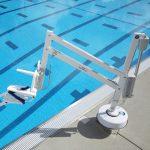 Splash Pool-side Hoist in situ