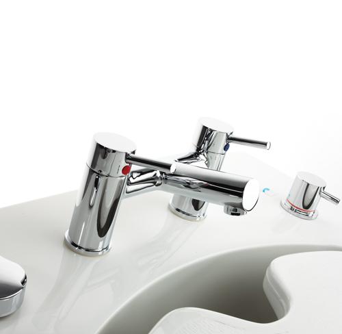 Lincoln Height Adjustable Platform Bath taps