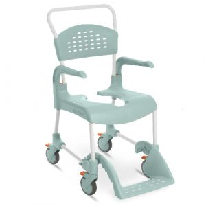 Etac clean shower commode chair in green