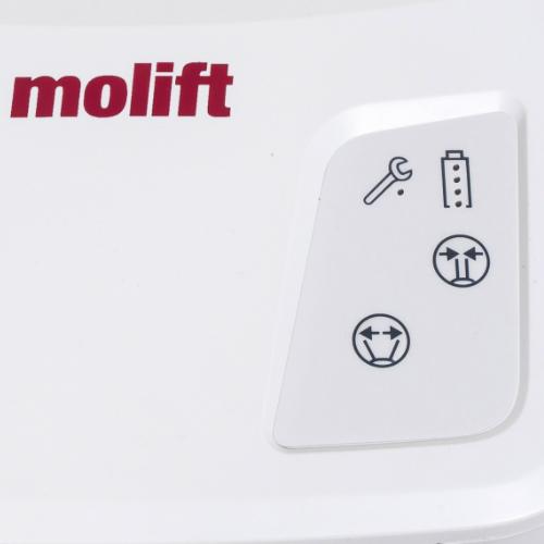 Molift Quick Raiser 205 sit-to-stand hoist display