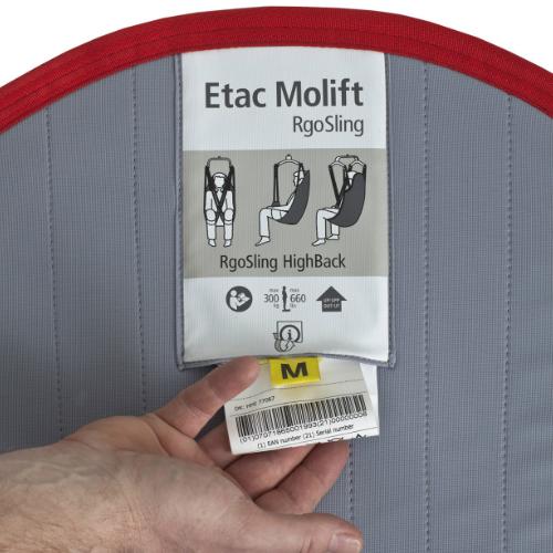 Molift RgoSling Active label